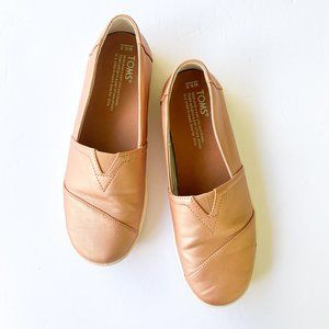 Rose Gold Pink Toms Avalon Slip-Ons